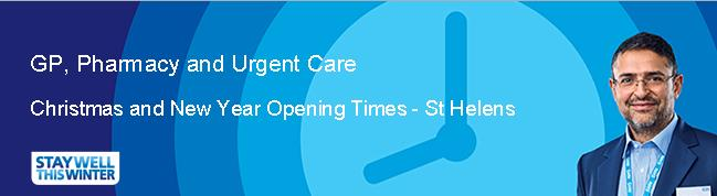Banner image for Christmas and New Year Pharmacy Opening Hours